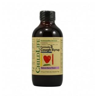 Child Life Essentials Formula 3 Cough Syrup  Natural Berry 4 fl oz